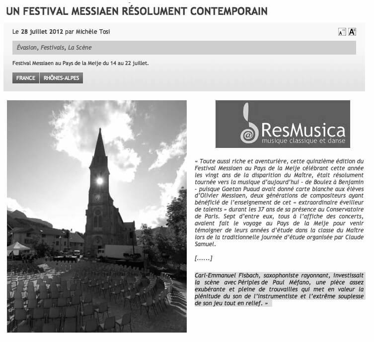 Preview of Michèle Tosi, www.resmusica.com